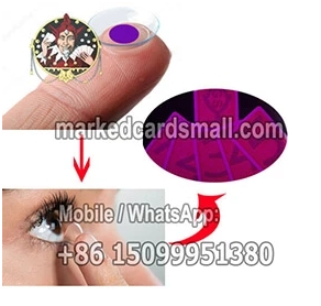 marked decks of cards for contact lenses